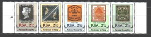 South Africa. 1990. 795-99. Stamps on stamps. MNH.