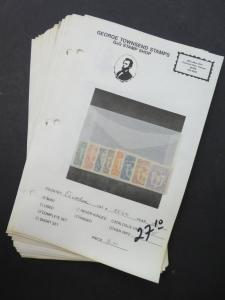 EDW1949SELL : ECUADOR Mint & Used collection on display pages Scott Catalog $317
