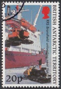 British Antarctic Territory 2000 used Sc #289 20p RRS Bransfield unloading