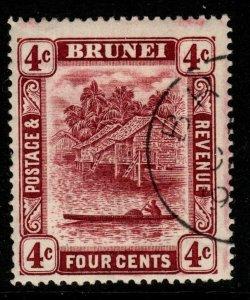BRUNEI SG39 1912 4c CLARET FINE USED