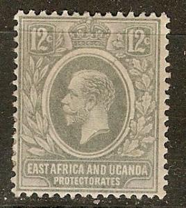 East Africa & Uganda 44 SG 47 MLH F/VF 1912 SCV $3.25