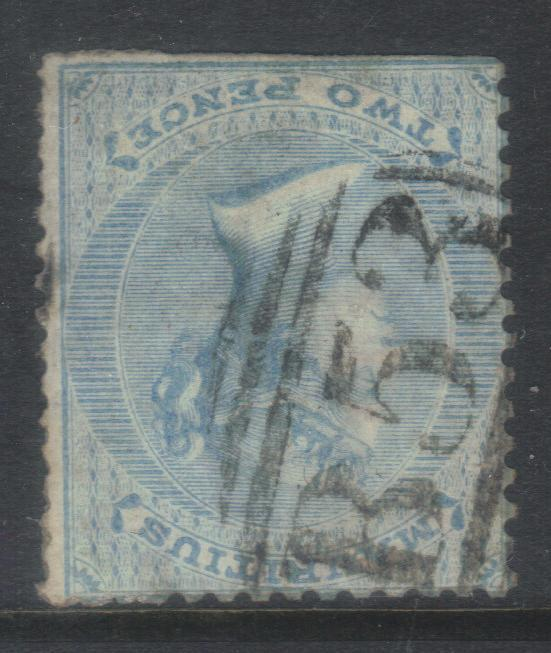 MAURITIUS 1863-1872 CROWN CC SG59w INV WMK USED CAT £38