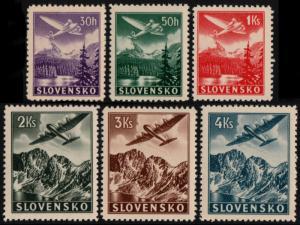 ✔️ SLOVAKIA 1939 - AIR MAIL - SC.C1/C6 MNH OG [SK048X]
