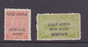 India Travancore-Cochin Sc O18-O19 set MH