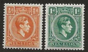 JAMAICA SC# 148-9  FVF/MNH