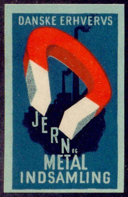 Denmark Industrial iron and Metals Collection Poster Stamp