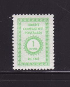 Turkey O98 MHR Official Stamp (A)