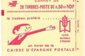 France #1293b Complete Booklet CV $20.00 (X9629)