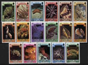 British Virgin Islands 1979 Marine Life definitive set co...