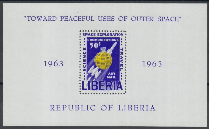 XG-Z050 LIBERIA - Space, 1963 Peaceful Use Of Outer Space MNH Sheet