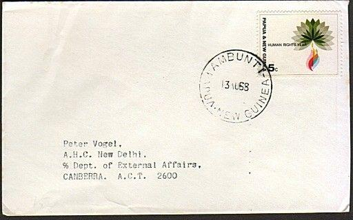 PAPUA NEW GUINEA 1968 cover ex AMBUNTI.....................................74127