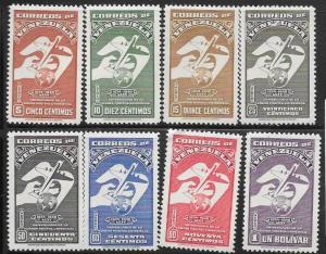 Venezuela  #C284-C287,C289-C292 Global Air Mail  (U) CV $6.00