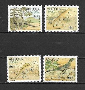 Angola MNH Set Of Dinosaurs 1994