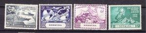 J26616  JLstamps 1949  bermuda mlh #138-41 upu
