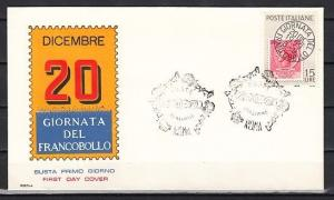 Italy, Scott cat. 793. Stamp Day, Stamp on Stamp issue. First day cover.