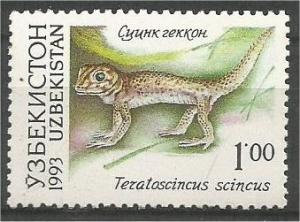 UZBEKISTAN, 1993, MNH 1r, Fauna, Scott 7