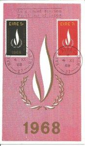 Maximum Card EIRE 1968 International Year For Human Rights Maxi Card U3790