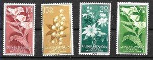 #8074 SPAIN COLONY SPANISH GUINEA 1959 FLORA FLOWERS YV 406-9 MNH
