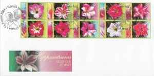 Norfolk Island 2004 FDC Sc #823 Block of 10 Day Lilies