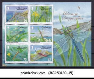 ALDERNEY BAILIWICK OF GUERNSEY - 2010 DRAGONFLY / INSECTS MIN/SHT MNH