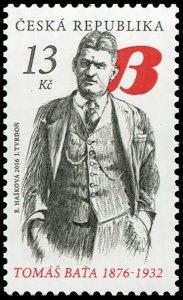Czech Republic. 2016. Personalities - Tomáš Baťa, 1876–1932 (MNH OG) Stamp