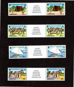 Anguilla 1982 Sc 502-5 MNH Commemorative Perforate Gutter Pairs (4)