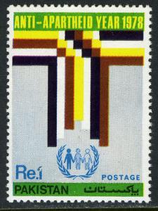 Pakistan 457, MNH. Anti-Apartheid Year. Four Races, 1978