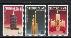 Christmas Island #145-7 comp mnh Scott cv $1.35 Christmas