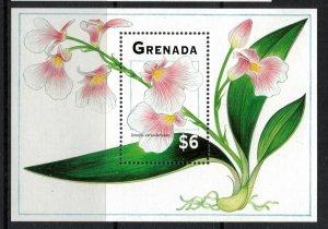 Grenada #2345-6* NH  CV $12.00  Orchid Souvenir sheets