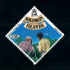 [102268] Solomon Islands 1986 Space travel weltraum Halley comet From set MNH