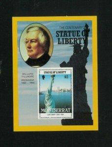 Montserrat 636-38 Souvenir Sheets. Cat.241.50 (6.90 x 35) Wholesale