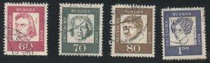 Germany-Berlin - 1961-62 - SC 9N186-89 - Used