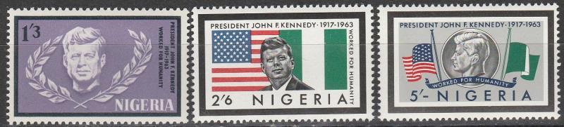Nigeria #159-61  MNH (K246)