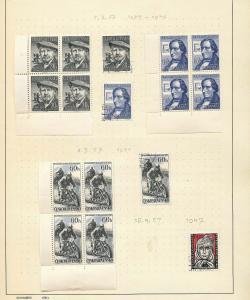 Czechoslovakia 1954/57  M&U Blocks Covers (Appx 110+Items) (Ref DD545