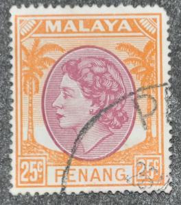 DYNAMITE Stamps: Malaya Penang Scott #38 – USED