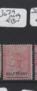 MAURITIUS  (P1905B)  QV  1/2D /10D  SG 79   MOG