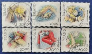 Iceland Sports Stamps Scott # 708-711B Used (I695)