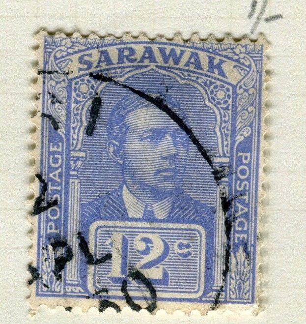 SARAWAK; 1928 early Charles Brooke issue fine used 12c. value