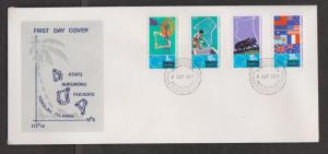 TOKELAU ISLANDS Scott # 33-6 FDC - 25th Anniversary South Pacific Commission # 2