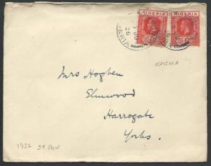 NIGERIA 1926 cover to UK - KATSINA cds.....................................56559
