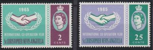 Saint Kitts - Nevis 165-166 MNH (1965)