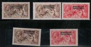 Bechuanaland SC 92-95,92a Mint 1915-1923 SCV$ 695.00 Set