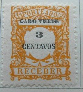 Cape Verde Portuguese Colony 1921 3c MH* A4P44F78