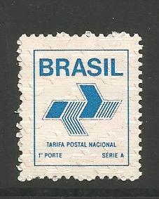 BRAZIL 2139, MNH STAMP, FIRST CLASS DOMESTIC POSTAGE RATE (28CZ), 1988