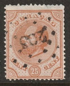 Netherlands Antilles 1876 Sc 5 used thin at top