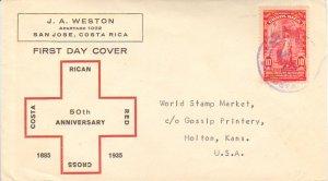 Costa Rica Scott 163 Typewritten Address.