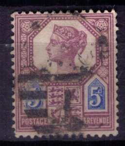 Great Britain Sc #118a 5p Type I Lilac & Blue Very Fine
