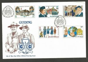 1985 Scouts Isle of Man Girl Guides 75th anniversary FD
