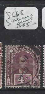SARAWAK  (P2704B) BROOKE  4C  SG 65    PAQUEBOT  CDS  VFU
