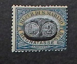 San Marino J49. 1931 2L on 5c Blue and brown